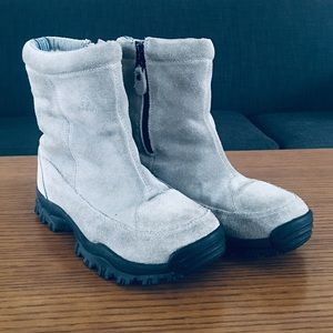 KAMIK SOULFUL Grey Suede Winter Boots Size W's 7
